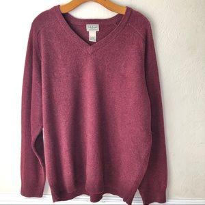 LL Bean Lambs Wool V-Neck Sweater